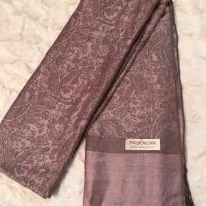 Pashmina - mauve pink and grey paisley